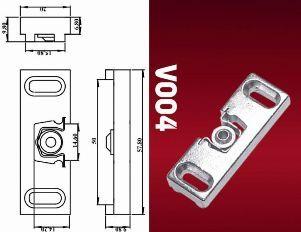 Магнитная защелка для металлопластиковой балконной двери..